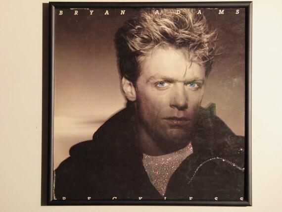 Glittered Record Album - Bryan Adams - Reckless