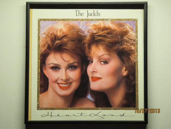 Glittered Record Album - The Judds - Heart Land