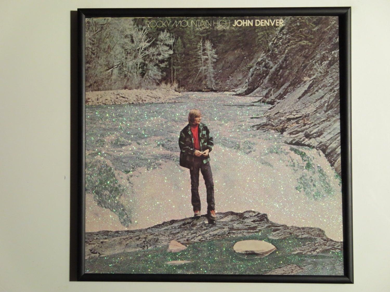 Glittered Record Album John Denver Rocky Mountain High | Etsy