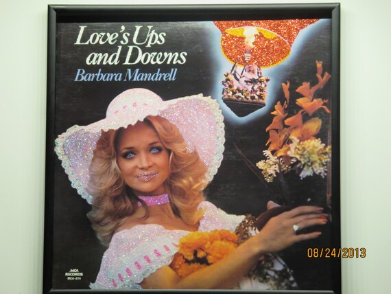 Glittered Record Album - Barbara Mandrell - Love's Ups and Downs