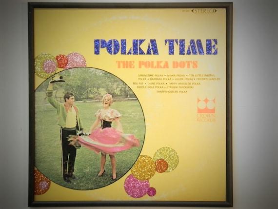Glittered Record Album - The Polka Dots