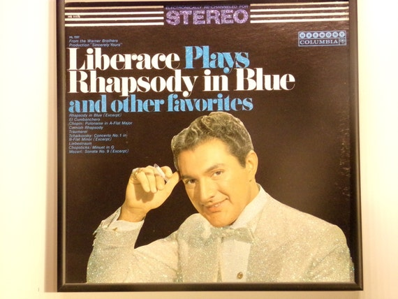 Glittered Record Album - Liberace - Liberace Plays Rhapsody In Blue and Other Favorites