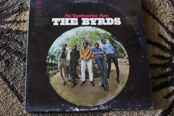 David Jones Personal Collection Record Album - The Byrds - Mr Tambourine Man