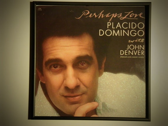 Glittered Record Album - Placido Domingo with John Denver - Perhaps Love