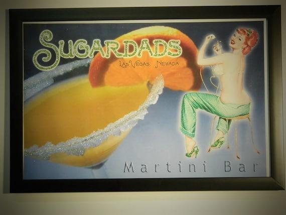 Glittered Poster - Sugardads Martini Bar Las Vegas
