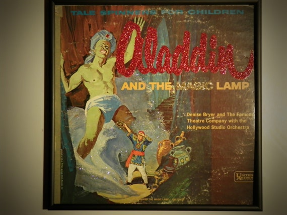 Glittered Record Album - Tale Spinners for Children - Aladdin and his Magic Lamp