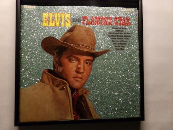 Glittered Record Album - Elvis - sings Flamingo Star - Soundtrack