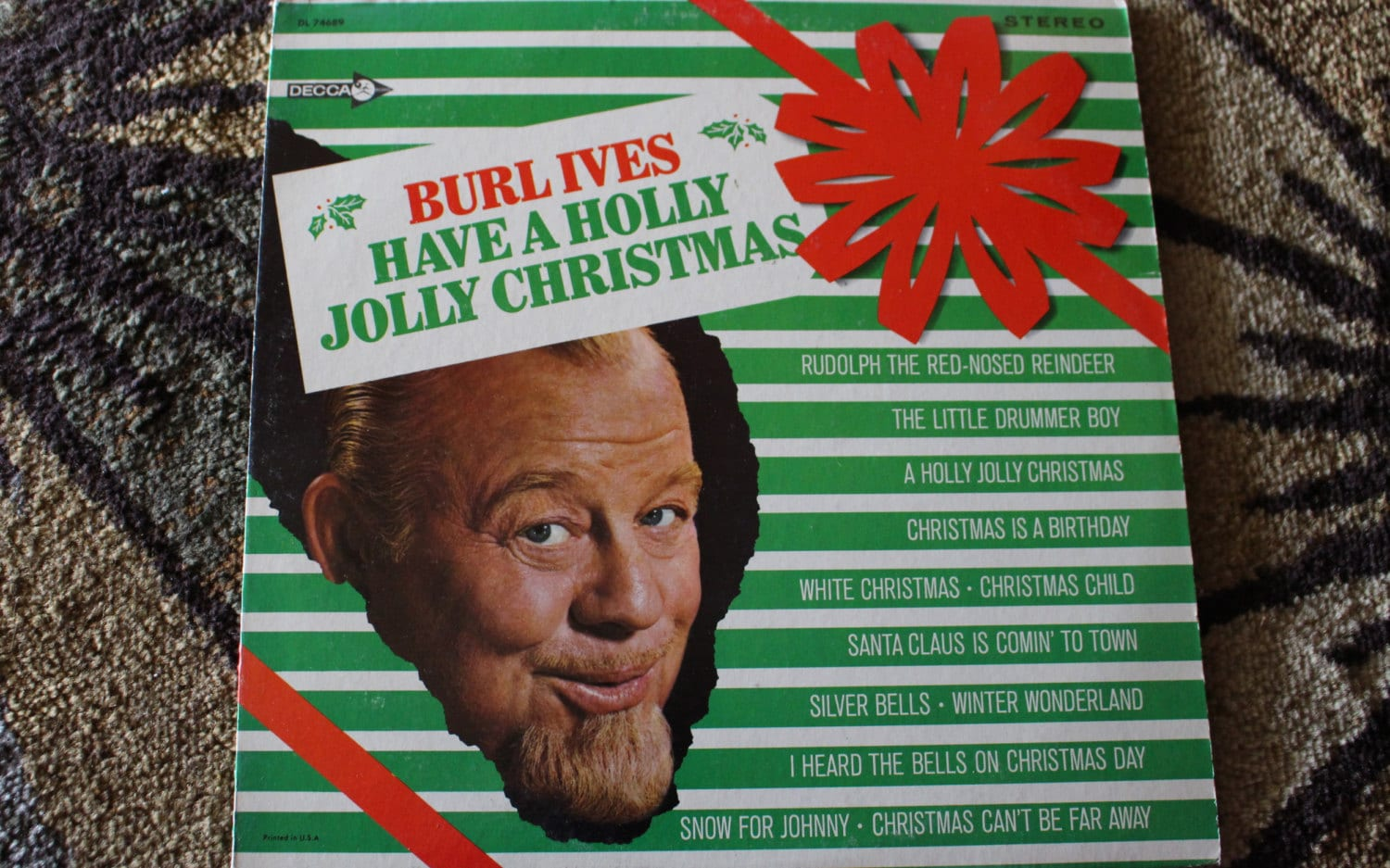 Burl Ives Christmas.David Jones Personal Collection Record Album Burl Ives