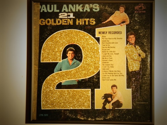 Glittered Record Album - Paul Anka - Paul Anka's 21 Golden Hits