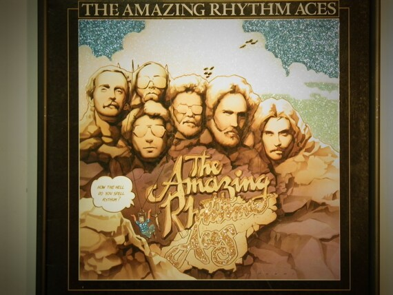 Glittered Record Album - The Amazing Rhythm Aces