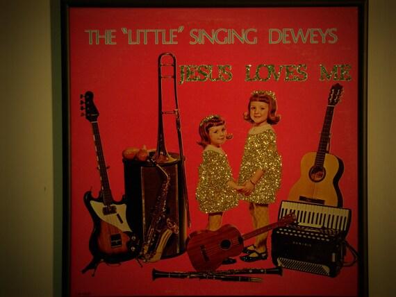 Glittered Record Album - The Little Deweys
