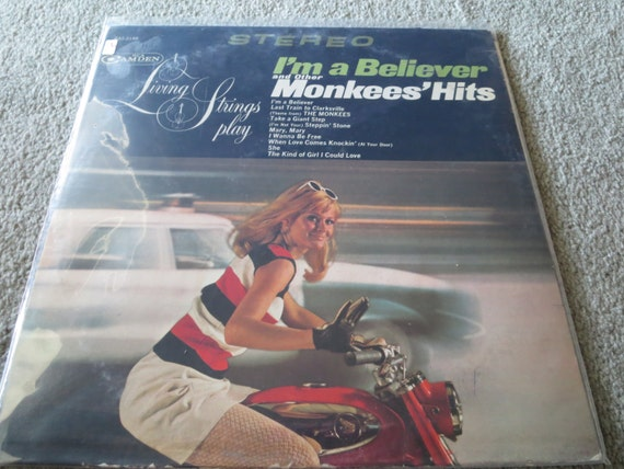David Jones Personal Collection Record Album - Living Strings Play - I'm A Believer and other Monkees' Hits