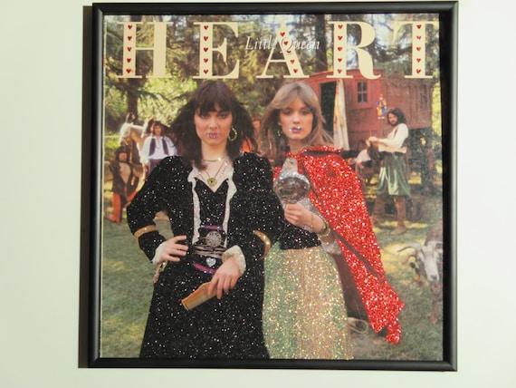 Glittered Record Album - Heart - Little Queen