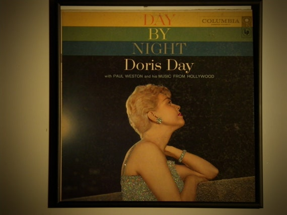 Glittered Record Album - Doris Day - Day by Night
