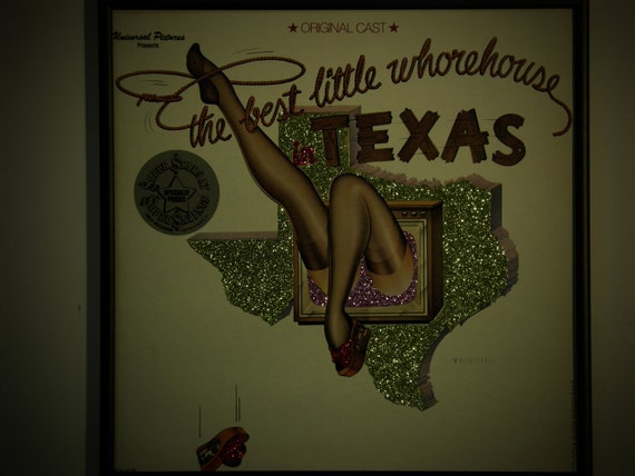 Glittered Record Album - The Best Little Whorehouse in Texas