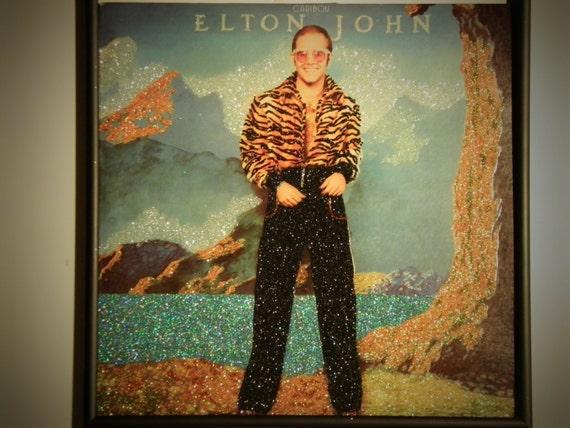 Glittered Record Album - Elton John - Caribou