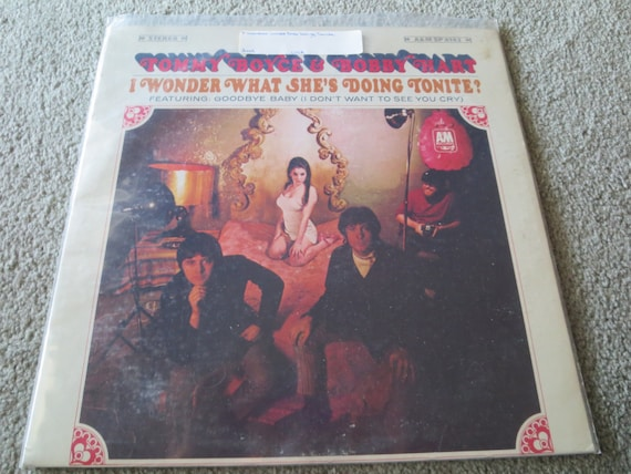 David Jones Personal Collection Record Album - Tommy Boyce and Bobby Hart - I Wonder What She's Doing Tonite!