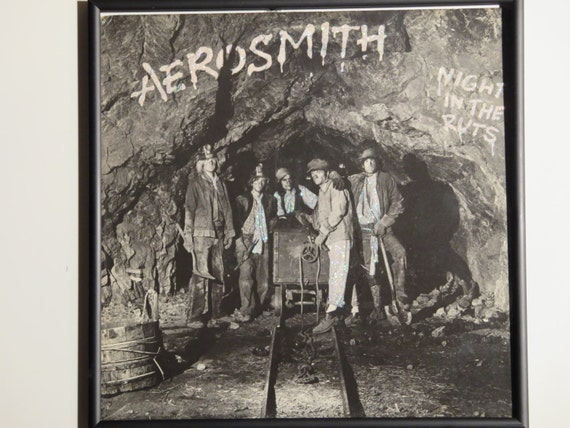 Glittered Record Album - Aerosmith - Night In The Ruts