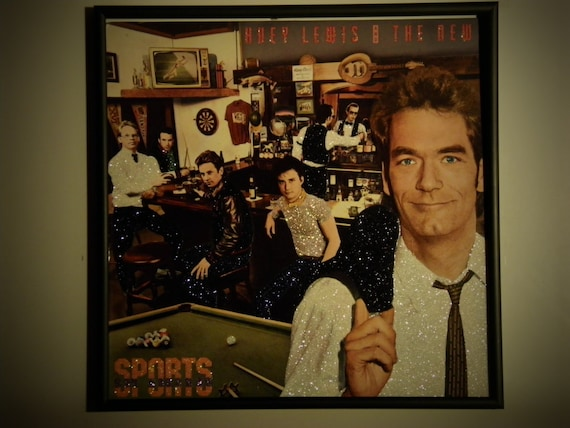 Glittered Record Album - Huey Lewis & the News - Sports