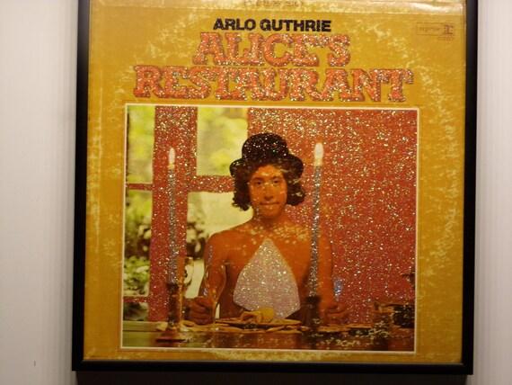Glittered Record Album - Arlo Guthrie - Alice's Restaurant