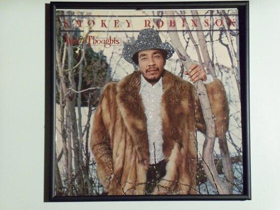Glittered Record Album - Smokey Robinson - Warm Thoughts