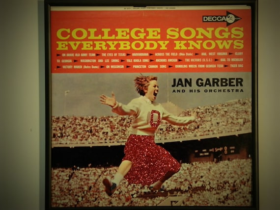 Glittered Record Album - College Songs