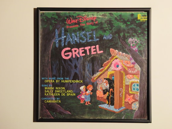 Glittered Record Album - Walt Disney - Hansel and Gretel
