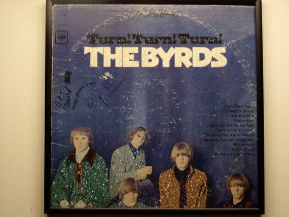 Glittered Record Album - The Byrds - Turn! Turn! Turn!