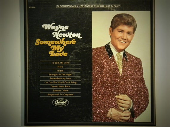 Glittered Record Album - Wayne Newton