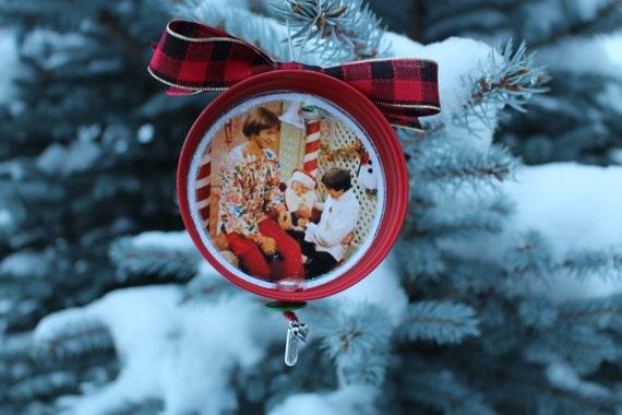 "Davy Jones Equine Memorial Foundation ""Davy Jones and Peter Tork Monkees on Santa's Lap"" Christmas Ornament"