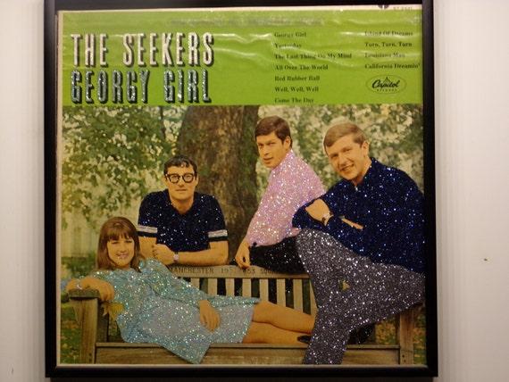Glittered Record Album - The Seekers - Georgie Girl