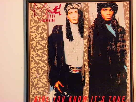 Glittered Record Album - Milli Vanilli - Girl You Know It's True