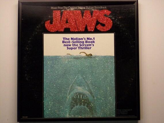Glittered Record Album - JAWS - Soundtrack