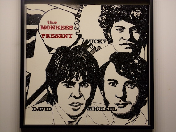 Glittered Poster - The Monkees - Present