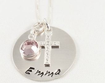 First Communion Jewelry / Confirmation Necklace / Religious Jewelry / Cross Necklace / First Communion Gift / Religious Gift / Faith
