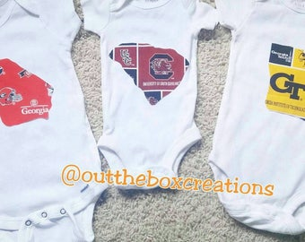 Team state outline onesies, state outline onesies, team state outline shirts, football onesies, football shirts,