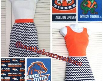 Blue/Orange  Team Colored Chevron Maxi Dresses (Also  in Maternity) chevron maxi, maternity maxi,maxi dress, chevron dress, women's dress