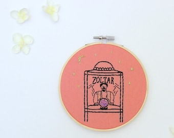 Zoltar Fortune Teller Embroidery Hoop