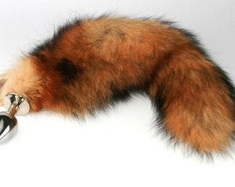 7c7208d35ac Classic Red Fox Tail Butt Plug! Real Fur