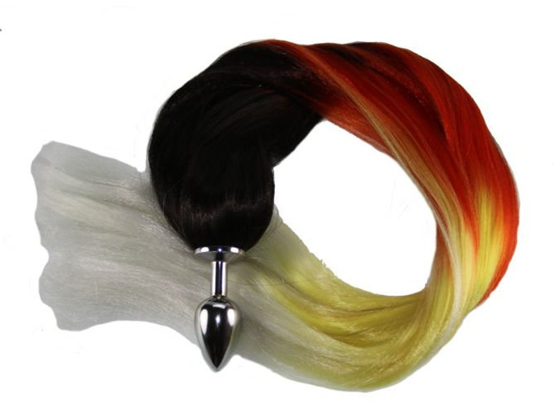 78f131a83 Flame Ombre Pony Tail Butt Plug 4 Sizes Available for Pony