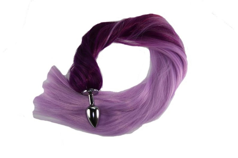 267b4342a Purple Ombre Pony Tail Butt Plug 4 Sizes Available for Pony