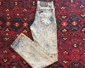 Vintage 80s Lee Jeans 27X32 Patina Distressed Denim Jeans Acid Washed Jeans Vintage Lee Size 28 Union Made Jeans Made in USA