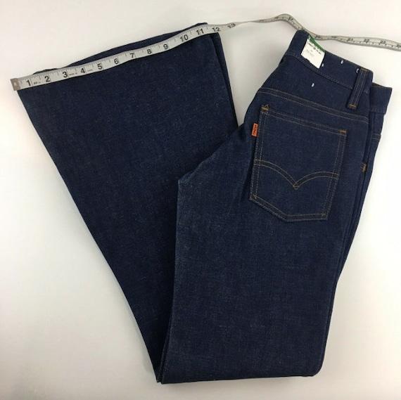 Vintage 1970s Levi's Bell Bottom Jeans ~ Orange Ta
