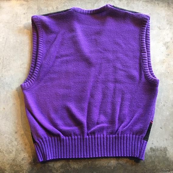1970s-1980s Vintage Cat Sweater Vest / Size M / P… - image 10