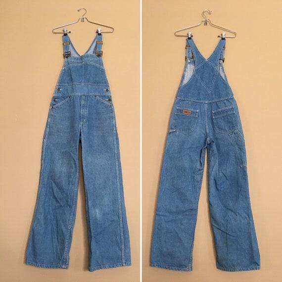 1970s Vintage Hang Ten Overalls ~ Women's S/M 29X2