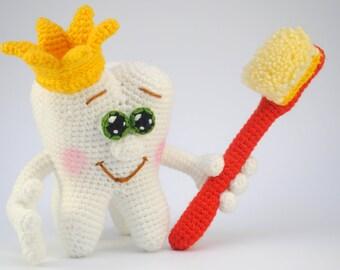 Amigurumi Tooth Smile Face Free Pattern | Crochet amigurumi ... | 270x340