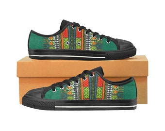 9da3a103fb2b African Print Sneakers wax print shoes ethnic print shoes   Etsy