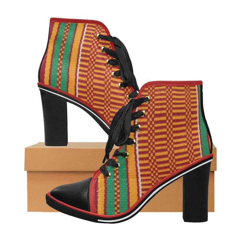 53a0cbafadd9b Women's African Print High Boots African Print Shoes Ankara Shoes Fabric  Covered Shoes Kente Shoes