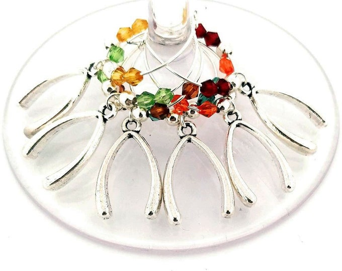 Thanksgiving Wine Charms - Wishbone Wine Charms 6/pack