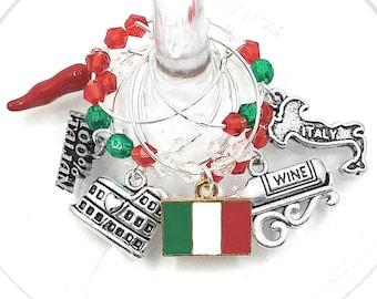Italian Wine Charms - 100% Italian - 6/pack